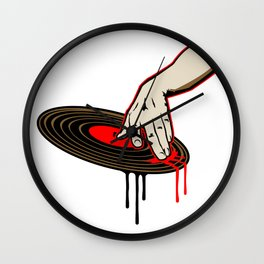 Cool DJ Hand Spinning Turntable Record Wall Clock