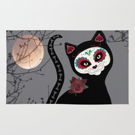 Day of the Dead Cat Rug