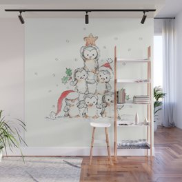 Oh Penguin Tree Wall Mural