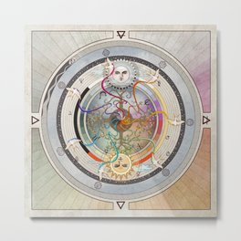 67000 mph, all systems go- a medicine wheel Metal Print
