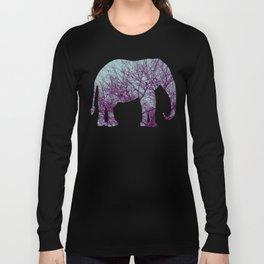 1000 Words on Twilight and Aubergine Long Sleeve T-shirt