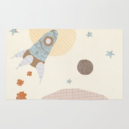 spaceship collage Rug