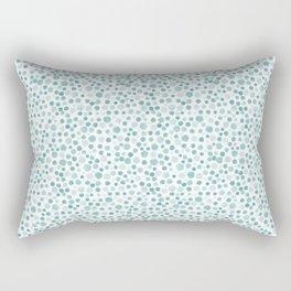 Mint Watercolor Dots - Aqua, Teal, Mint, Blue Rectangular Pillow