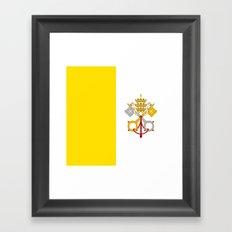 Flag Of Vatican City Framed Art Print