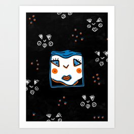DEEP SLEEP DIVING #1 Art Print