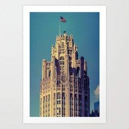 Chicago Tribune Building Buttresses Neo-Gothic Architecture Illinois Art Print