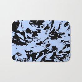 Blue Black Pattern Military Camouflage Bath Mat