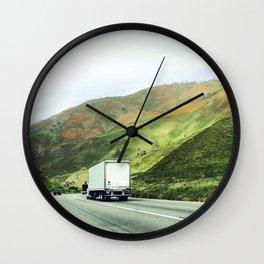 California mountains Wall Clock
