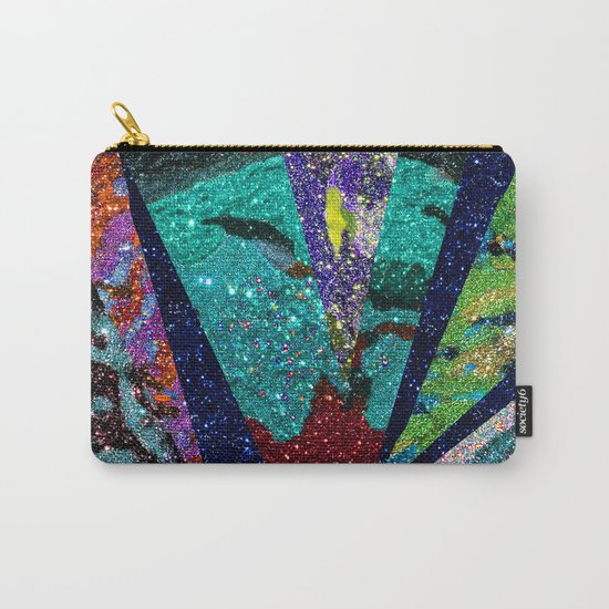 Peacock Mermaid Battlestar Galactica Abstract Carry-All Pouch