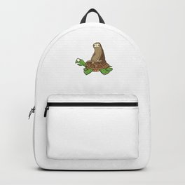 Sloth Turtle Funny Sleepy Sloths Forest Nature Wildlife Slow Animals Gift Backpack
