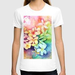 Aloha Plumeria Blossoms T-shirt