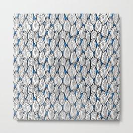 Vagina - Rama, White with Blue Metal Print