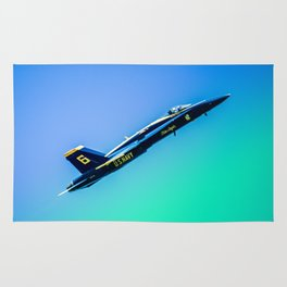 Blue Angles Rise Rug