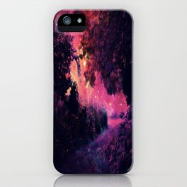 fantasy path Deep Magenta Burgundy iPhone Case