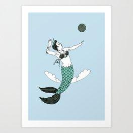 Queen of the Beach Art Print