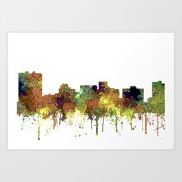 Arlington, Texas Skyline - SG - Safari Buff Art Print