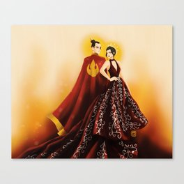 Fire Nation's Royal Siblings Canvas Print