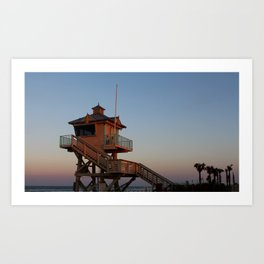 Guard Tower At Dusk Art Print
