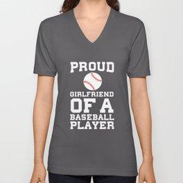 Proud Girlfriend of a Baseball Player Fan T-Shirt Unisex V-Neck