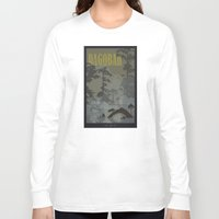 travel poster Long Sleeve T-shirts featuring Dagobah Travel Poster by Tawd86