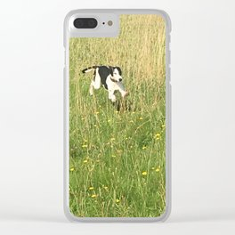 Happiness is running wild and free, and not letting your feet touch the ground! Clear iPhone Case