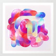 Tangled Candy Art Print