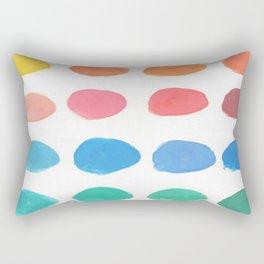 Designer Paint Sample Dots Rectangular Pillow