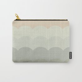 BROOKE BLUSH - Mid Century Modern Abstract Graphic Design Carry-All Pouch