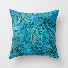 Chanting Blue Loon Throw Pillow