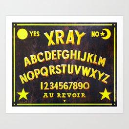 """XRAY SPIRIT BOARD"" Art Print"