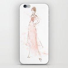 Audrey Hepburn My Fair Lady Pink Fashion Sketch iPhone & iPod Skin
