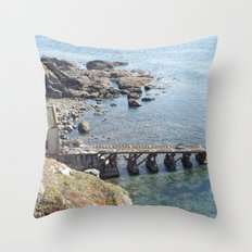 Lifeboat Station, Cornwall Throw Pillow