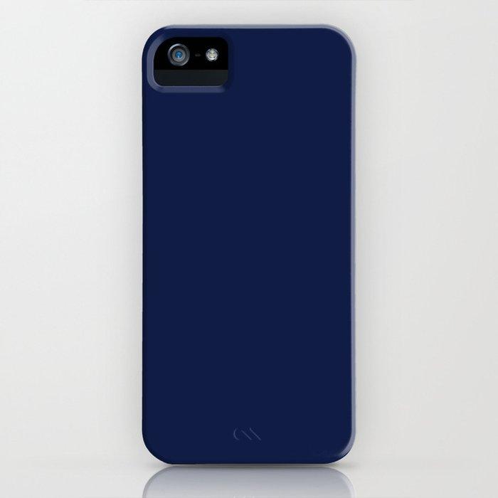 Navy Blue Minimalist iPhone Case