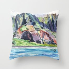 Majestic Na Pali Coast Throw Pillow