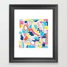 Colour Scatter Framed Art Print
