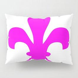 Fleur de Lis (Magenta & White) Pillow Sham