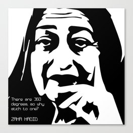 Zaha Hadid Quote Canvas Print