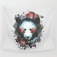 warrior Wall Tapestries featuring Warrior by Tracie Andrews