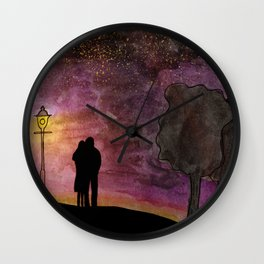 In love with the Milky Way Wall Clock