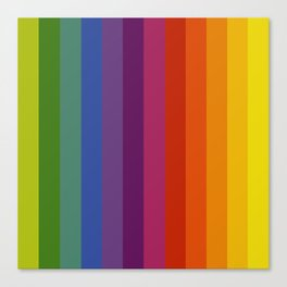 Color Wheel Lines Canvas Print
