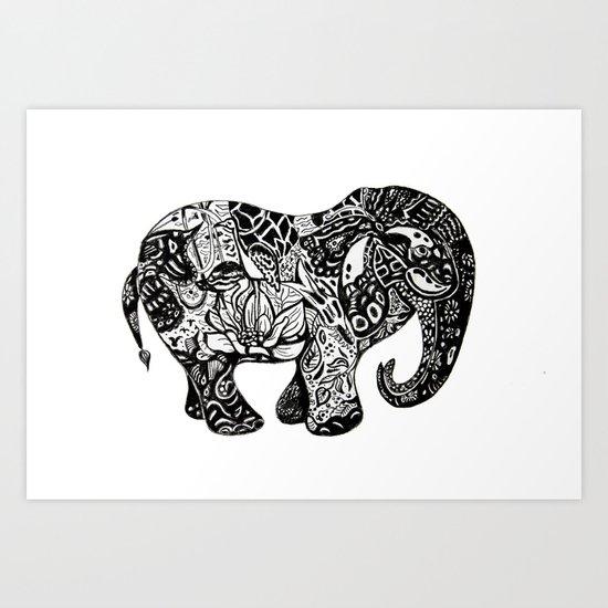 Fabulous elephant Art Print