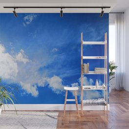 blue cloudy sky std Wall Mural