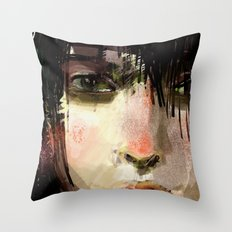 Poster Girl Throw Pillow