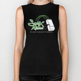"Suplex Kitchen Logo""PLANT BASED POWER"" Biker Tank"