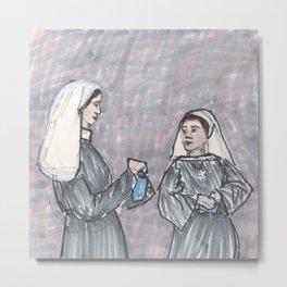 Two Nuns Metal Print