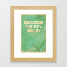The Three Jewels of Taoism: Compassion, Simplicity, Humility Framed Art Print