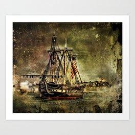 Tall ship USS Constitution Art Print