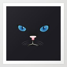 Little black cat Art Print