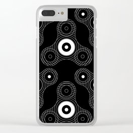 Fidget spinner toy Clear iPhone Case