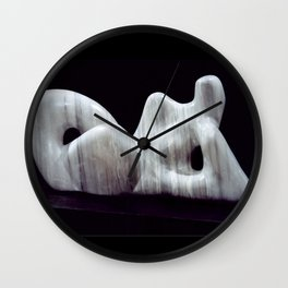 Supine by Shimon Drory Wall Clock